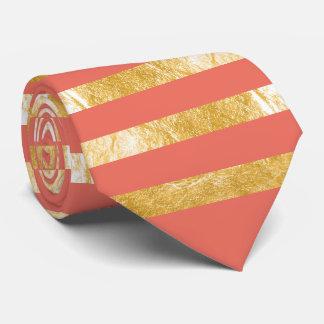 PixDezines diy color/faux gold/orange Tie