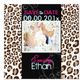 PixDezines diy colors/leopard photo save date Card