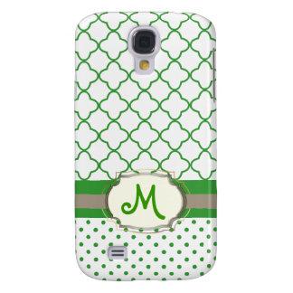 PixDezines DIY colors/quatrefoil pattern Galaxy S4 Case
