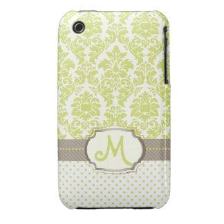 PixDezines DIY colors/sabine damask iPhone 3 Case-Mate Cases