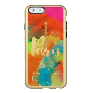 PixDezines eiffel tower/paris/watercolor Incipio Feather® Shine iPhone 6 Case