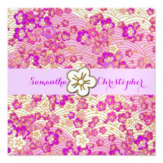 PixDezines faux chirimen Lilac Pink Sakura Custom Announcements