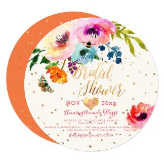 PixDezines Floral Watercolor Bridal Shower Card
