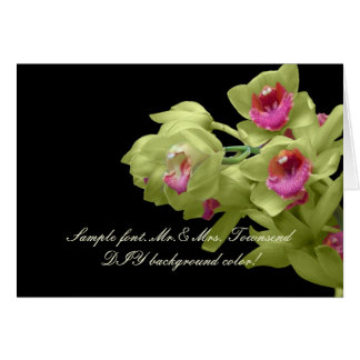 PixDezines Green Orchid/DIY background color Card