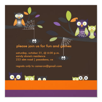 PixDezines Halloween, Trick or Treat 13 Cm X 13 Cm Square Invitation Card