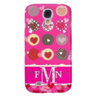 PixDezines Hearts, Monogram available Galaxy S4 Case