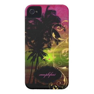 PixDezines hula sunset+swirls Case-Mate iPhone 4 Cases