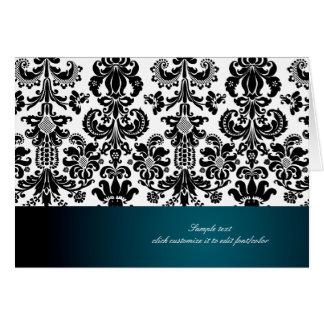 PixDezines Isabella Damask, teal Card