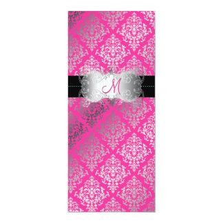 PixDezines Josephine Damask/DIY background color! 10 Cm X 24 Cm Invitation Card