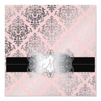 PixDezines Josephine Damask/DIY background color! 13 Cm X 13 Cm Square Invitation Card