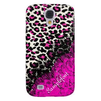 PixDezines leopard spots/faux lace Galaxy S4 Case