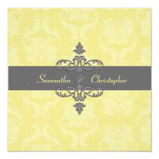 PixDezines Liliana Damask, diy background colors 13 Cm X 13 Cm Square Invitation Card
