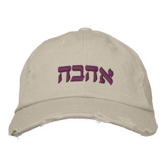 PixDezines Love (hebrew)/DIY text color, purple Embroidered Hat