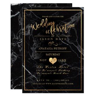 PixDezines Marble/Faux Gold/Wedding Celebration Card