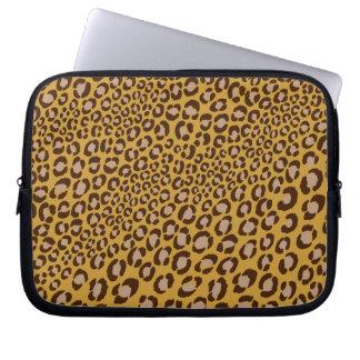 PixDezines Natural Leopard/DIY background color Computer Sleeves