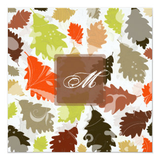 PixDezines oak leaves/fall/diy events+background 13 Cm X 13 Cm Square Invitation Card