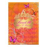 PixDezines Papillon Sweet 16/Rainbow Swirls 13 Cm X 18 Cm Invitation Card