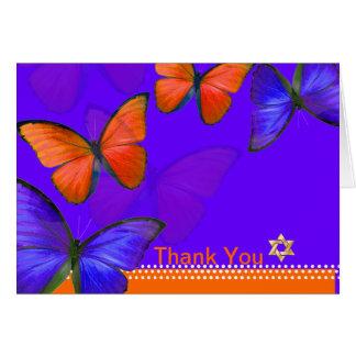 PixDezines Papillon, Thank You Note Card