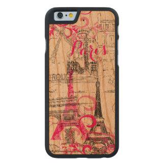 PixDezines paris sketched/DIY background color Carved Cherry iPhone 6 Case