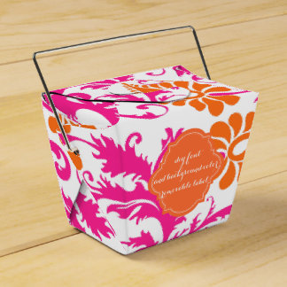 PixDezines pavo damask/DIY color Party Favour Box