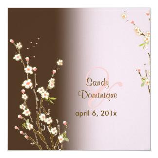 PixDezines Peach Sakura, wedding invitations