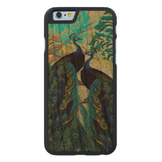 PixDezines Peacocks/Damask Carved® Cherry iPhone 6 Case