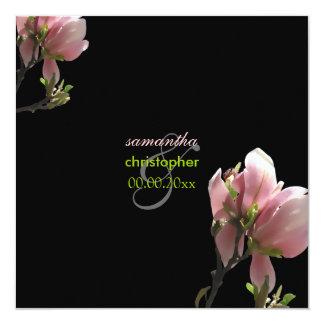 PixDezines pink magnolia/diy background 13 Cm X 13 Cm Square Invitation Card