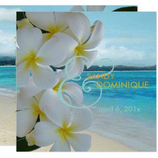 PixDezines PLUMERIA LEI/BEACH/TROPICAL/DIYfonts 13 Cm X 13 Cm Square Invitation Card