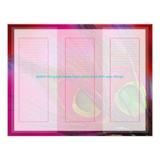 PixDezines Psychedelic Peacock, Customize It! 21.5 Cm X 28 Cm Flyer