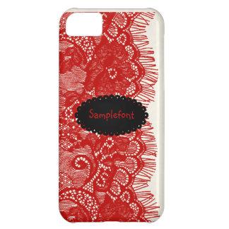 PixDezines red lace iPhone 5C Case