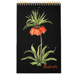 PixDezines Redoute Botanical Illustration Calendar