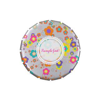 PixDezines retro daisies/diy background color Jelly Belly Tin