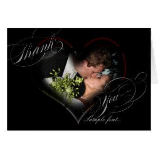 PixDezines Romantic Heart/Wedding Thank You Card