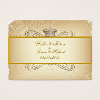 PixDezines Rossi Damask/Champagne, Advice Cards