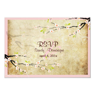 PixDezines rsvp Vintage Sakura Card