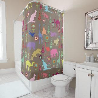 PixDezines Safari Jungle/DIY Background Shower Curtain
