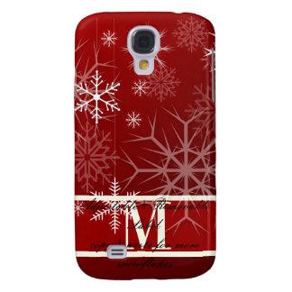 PixDezines Snowflake, monogram available Galaxy S4 Case