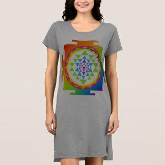 PixDezines Sri Yantra/Rainbow Dress