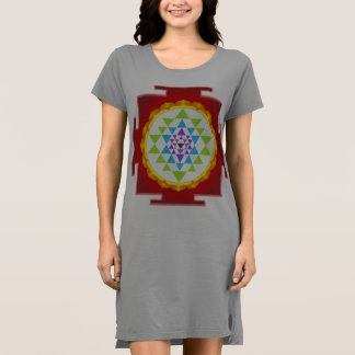 PixDezines Sri Yantra/Red Dress