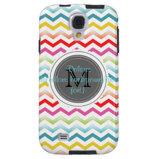 PixDezines summer chevron/monogram/diy colors Galaxy S4 Case