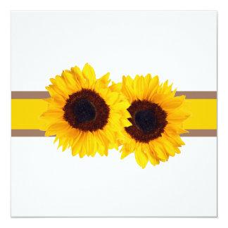 PixDezines sunflower/diy background+event! 13 Cm X 13 Cm Square Invitation Card