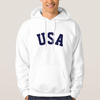 PixDezines USA/DIY text+font+colour Hoodie