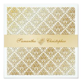 PixDezines vavin damask/champagne/diy background 13 Cm X 13 Cm Square Invitation Card