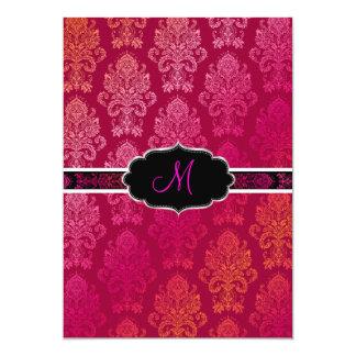 PixDezines Victorian Damask/Berry, Berry/DIY color 13 Cm X 18 Cm Invitation Card
