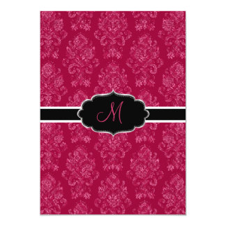 PixDezines Victorian Damask/Berry, Berry/DIY color 5x7 Paper Invitation Card