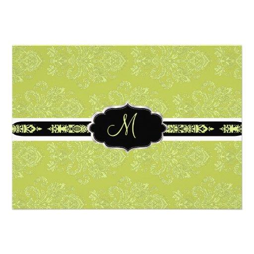 PixDezines Victorian Damask/Chartreuse/DIY color Announcement