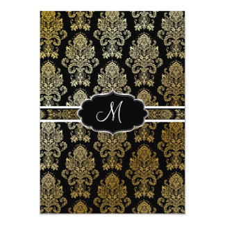 PixDezines Victorian Damask/DIY background color 13 Cm X 18 Cm Invitation Card
