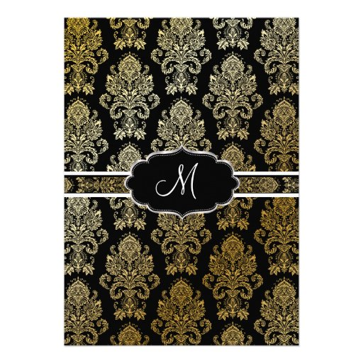 PixDezines Victorian Damask/DIY background color Personalized Invite