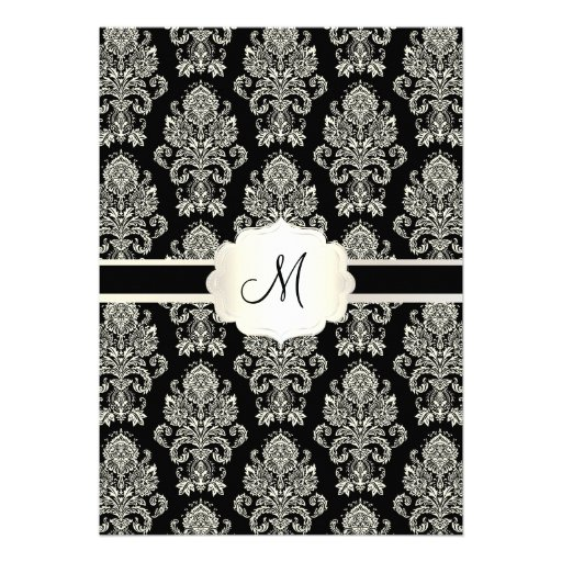 PixDezines Victorian Damask/green/DIY color Personalized Invites