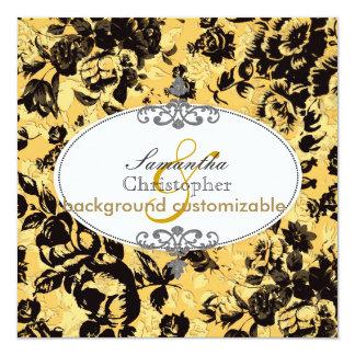 """PixDezines Victorian Roses 5.25"""" Square Invitation Card"""